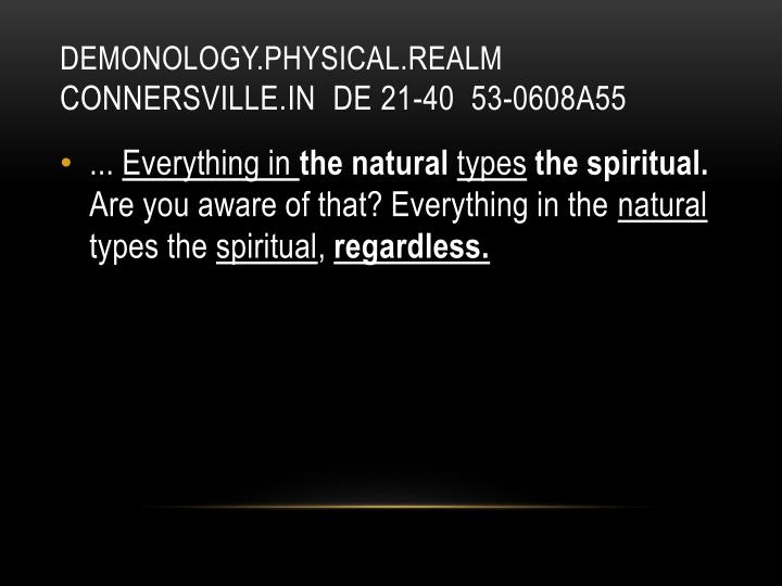 DEMONOLOGY.PHYSICAL.REALM