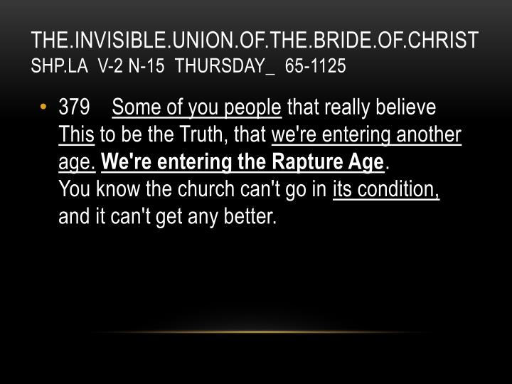 THE.INVISIBLE.UNION.OF.THE.BRIDE.OF.CHRIST