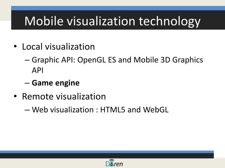 Mobile visualization technology