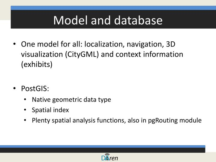 Model and database