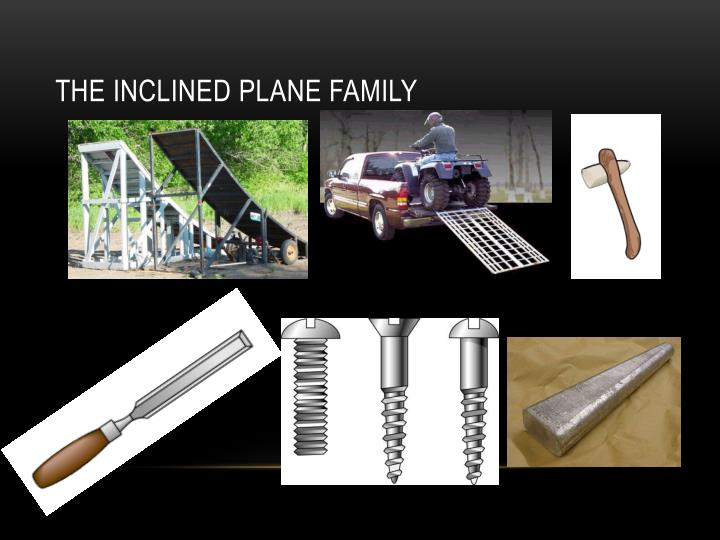The Inclined Plane Family