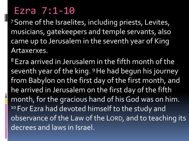 Ezra 7:1-10
