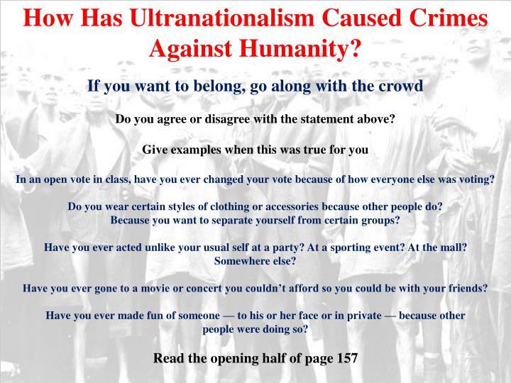 How Has Ultranationalism Caused Crimes Against Humanity?