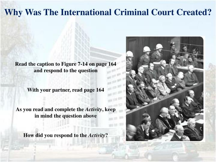 Why Was The International Criminal Court Created?