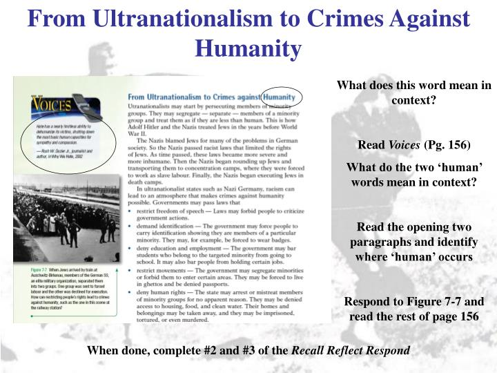 From Ultranationalism to Crimes Against Humanity