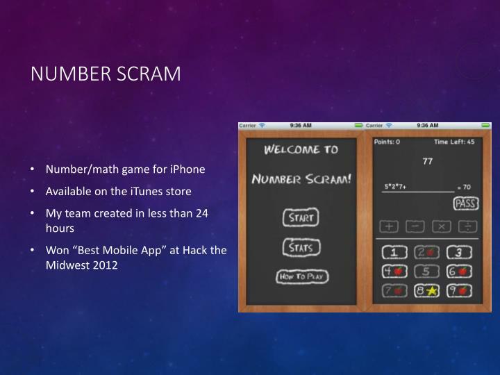 Number Scram