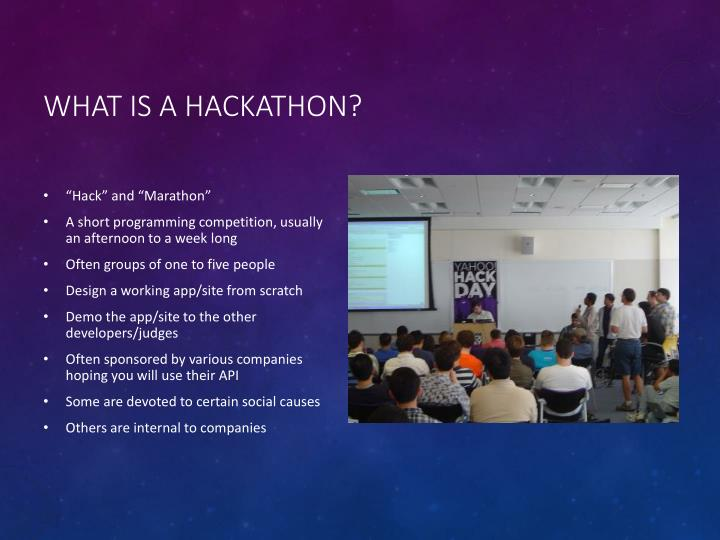 What is a hackathon