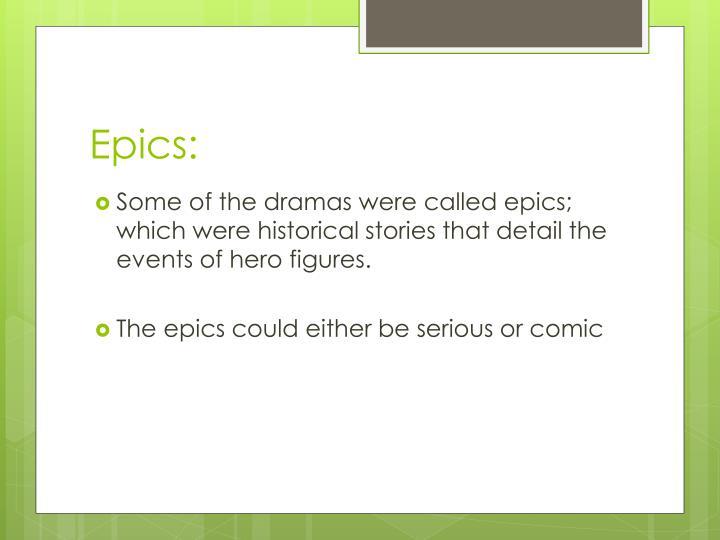 Epics: