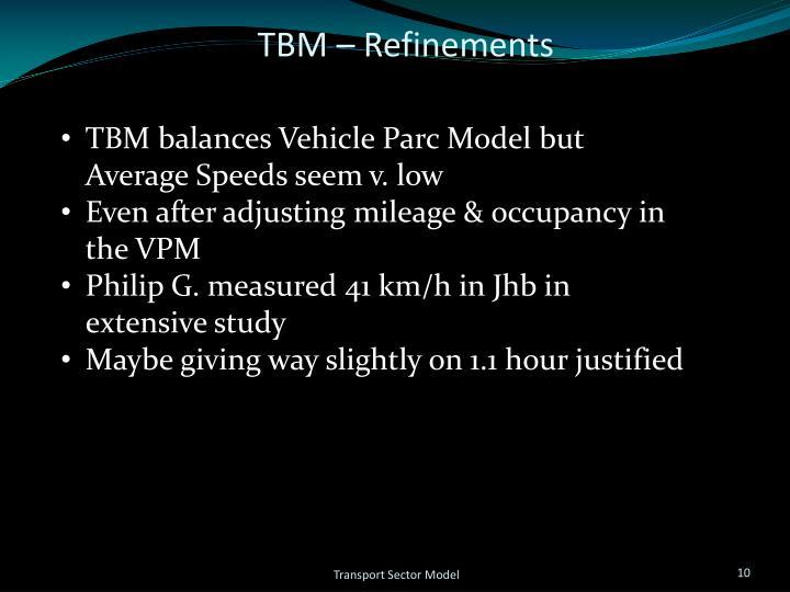 TBM – Refinements