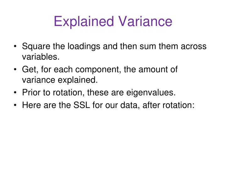 Explained Variance