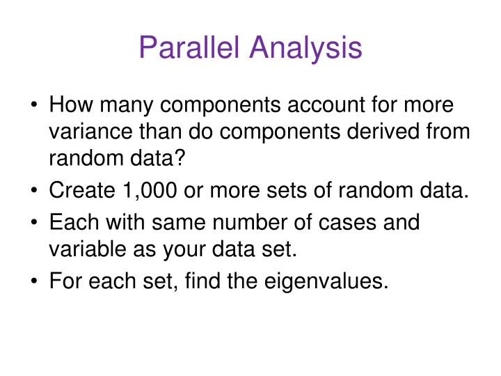 Parallel Analysis