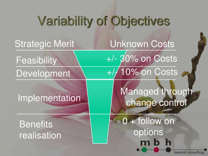 Variability of Objectives