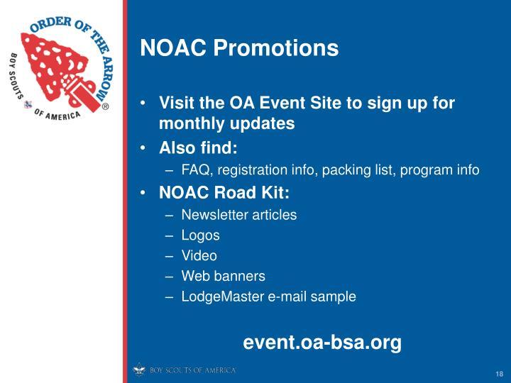 NOAC Promotions