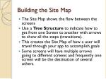 building the site map