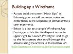 building up a wireframe