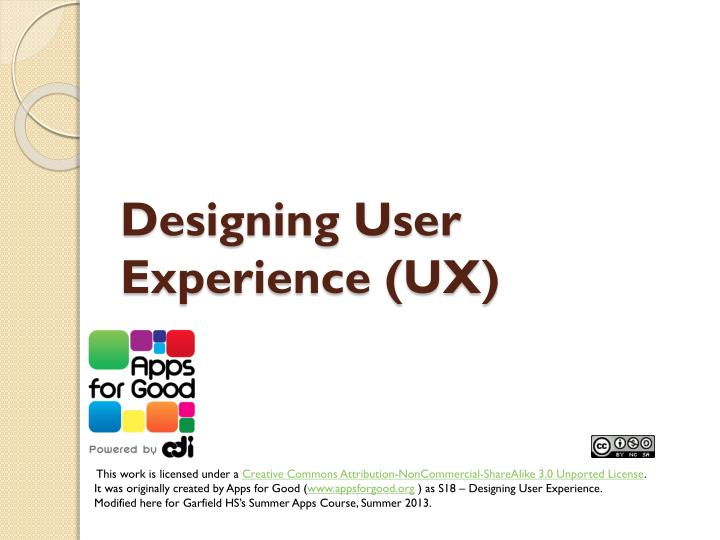 Designing user experience ux