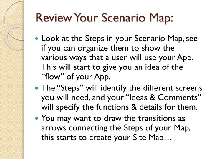 Review Your Scenario Map