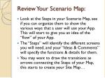 review your scenario map
