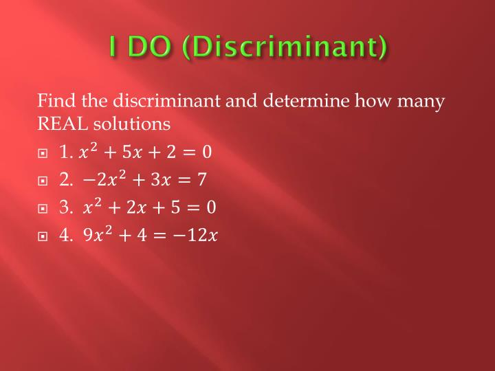 I DO (Discriminant)
