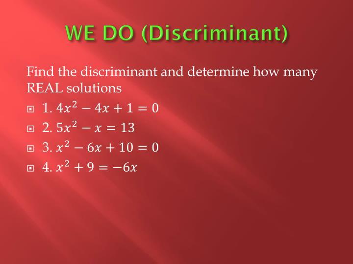 WE DO (