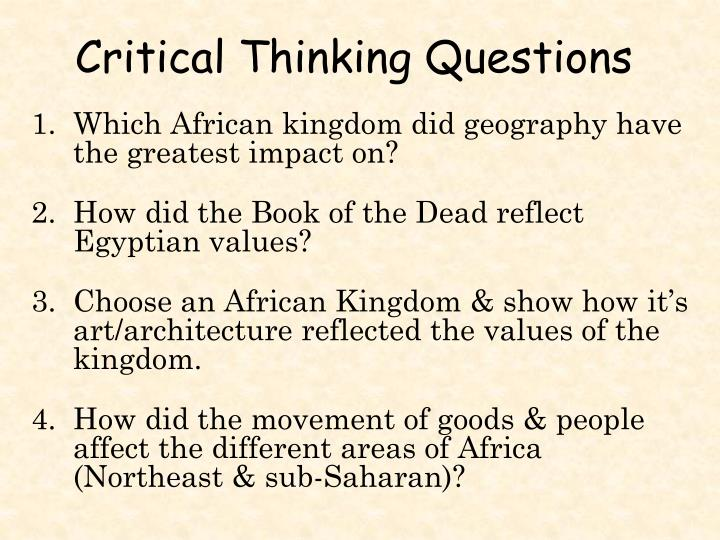 Which African kingdom did geography have the greatest impact on?