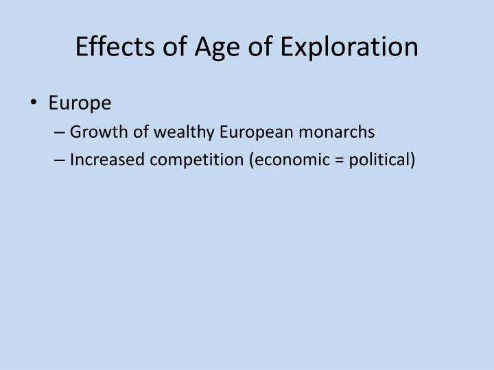 Effects of Age of Exploration