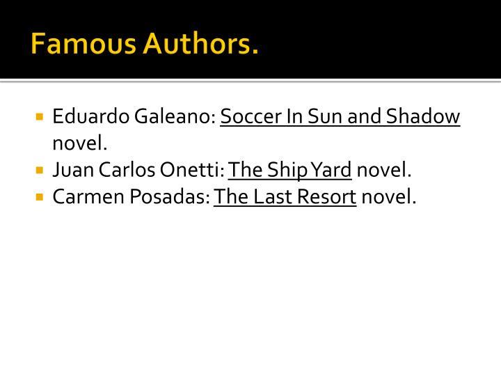 Famous Authors.