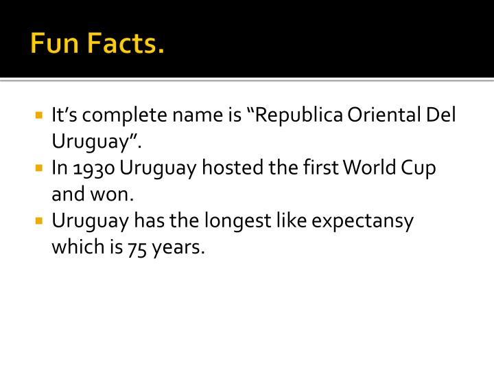 Fun Facts.