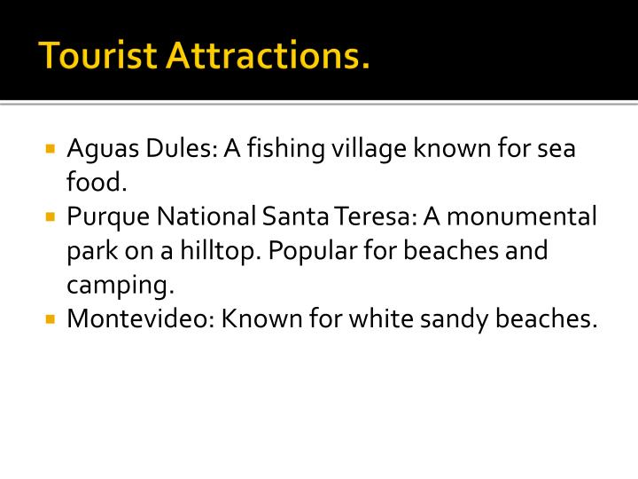 Tourist Attractions.