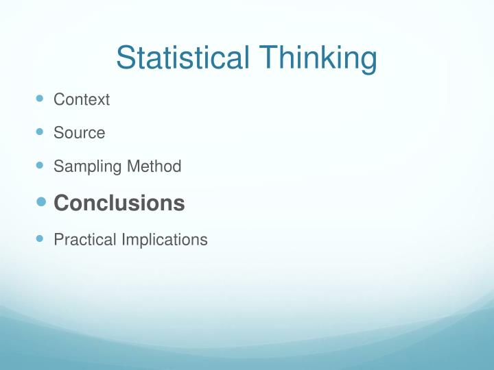 Statistical Thinking