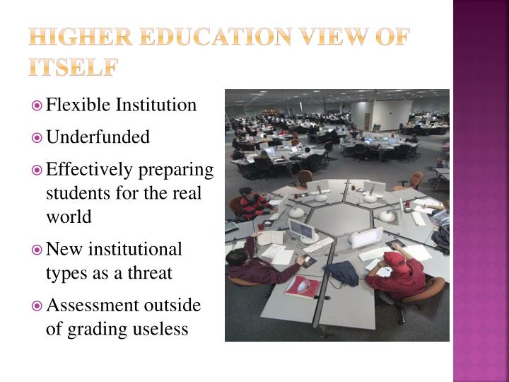 Higher Education View of Itself