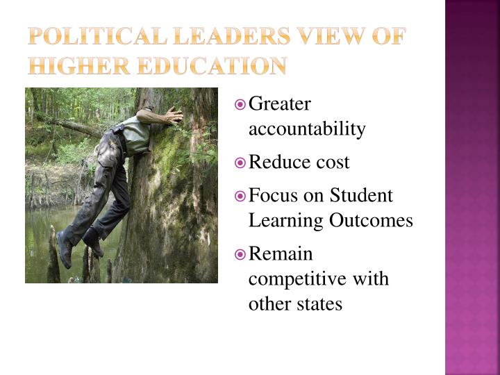 Political Leaders View of Higher education