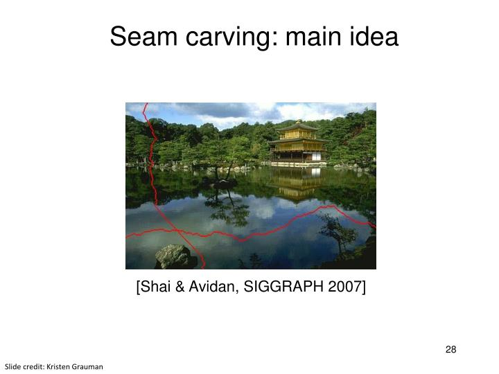 Seam carving: main idea