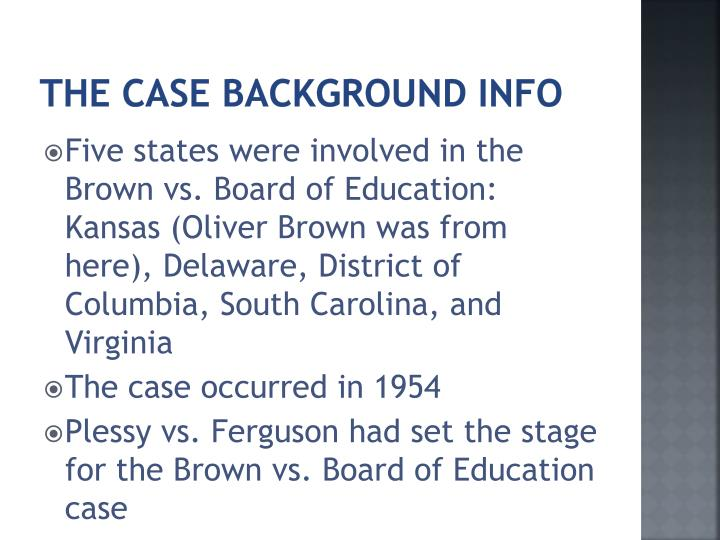 The case background info