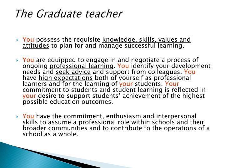 The Graduate teacher