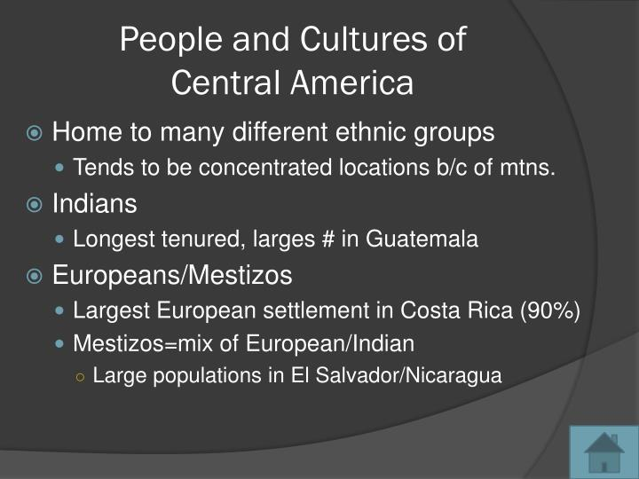 People and Cultures of
