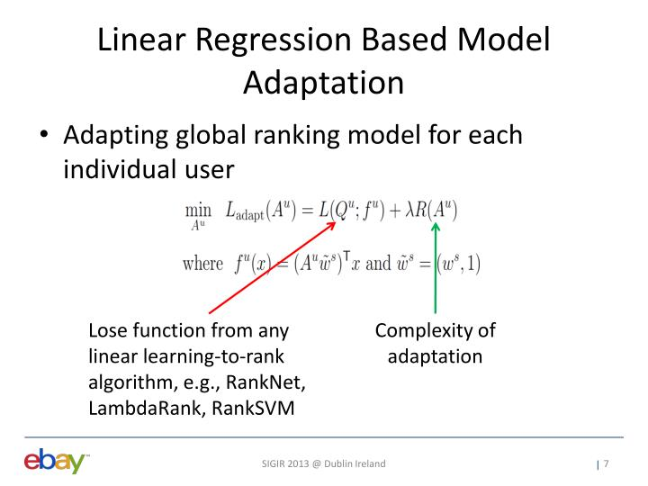 Linear Regression Based Model Adaptation