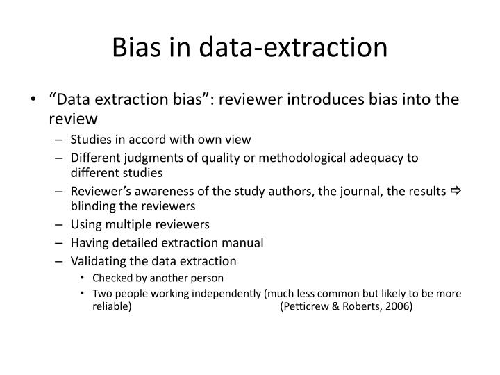 Bias in data-extraction