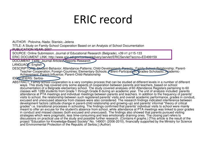 ERIC record