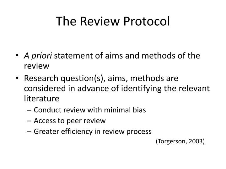 The Review Protocol