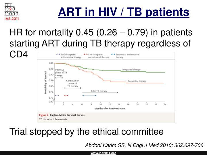 ART in HIV / TB patients
