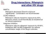 drug interactions rifampicin and other hiv drugs