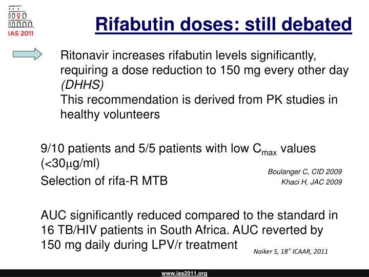 Rifabutin doses: still debated