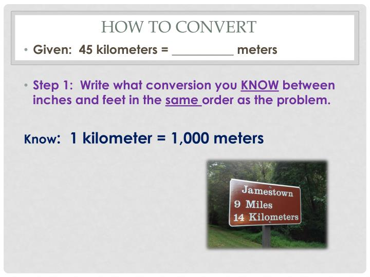 How to convert