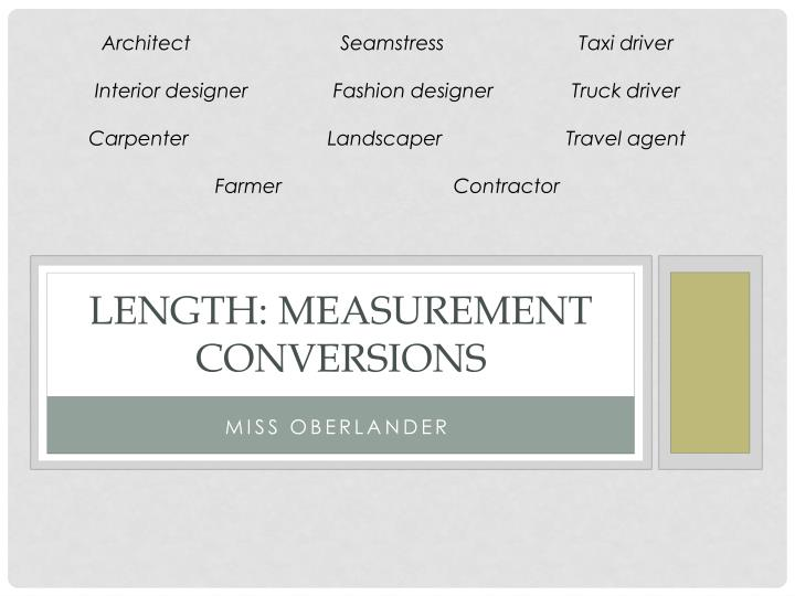length measurement conversions