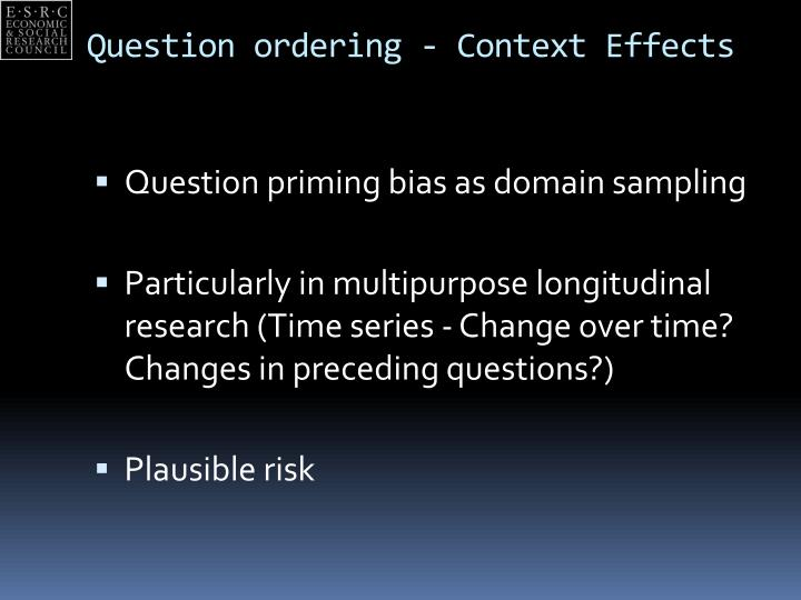 Question ordering context effects1