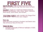 first five4