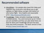 recommended software1