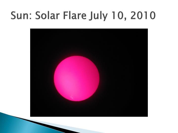 Sun: Solar Flare