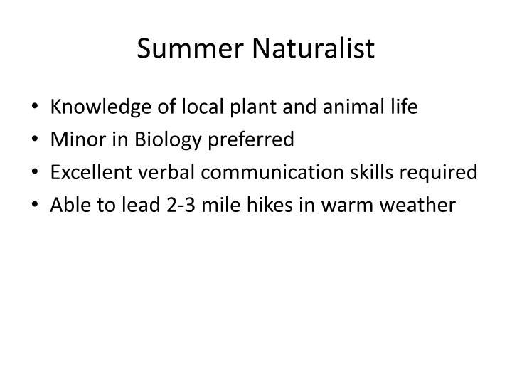 Summer Naturalist